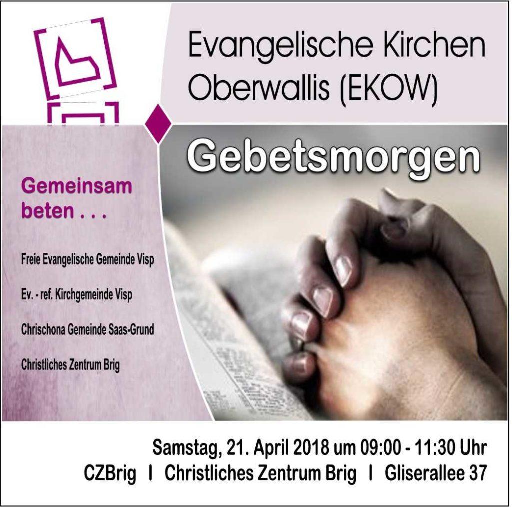 EKOW-Gebetsmorgen @ CZB | Glis | Wallis | Schweiz
