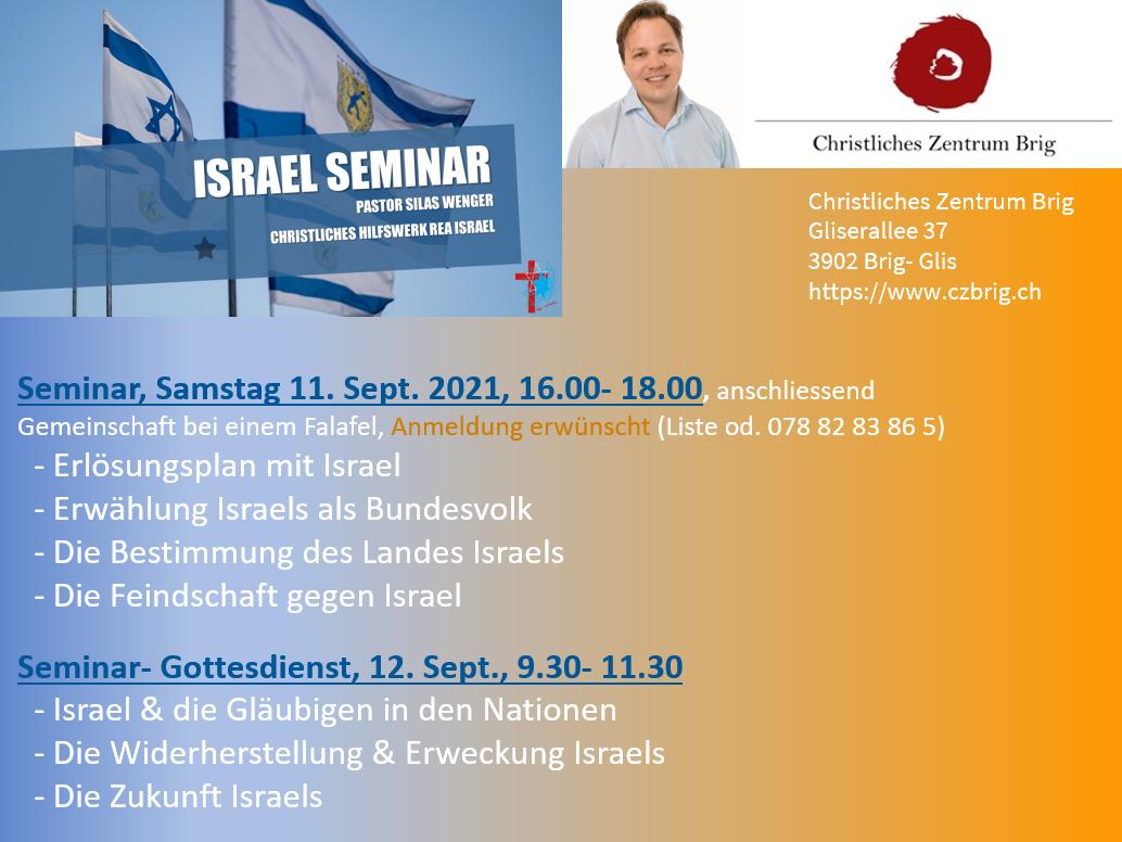 Israel-Seminar @ CZB   Glis   Wallis   Schweiz